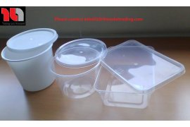 Clear plastic food containers - microwave safe - Myanmar Online Shopping