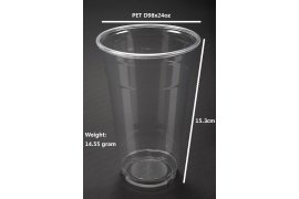 PET Plastic Cups 24OZ - Myanmar Online Shopping