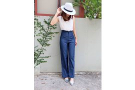 High waisted pants - Myanmar Online Shopping