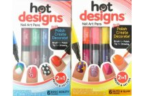 Hot Designs Nail Art Pens (2in1 Brush & Art Pen)