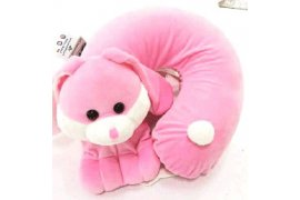 100% Natural Latex Neck Pillow with Cartoon Cover (Neck Support) - Myanmar Online Shopping