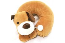 100% Natural Latex Neck Pillow with Cartoon Cover (Neck Support)