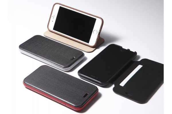 Carbon Fiber & Genuine Leather Case