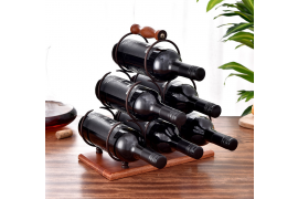 3 layers Tringle Wind Rack for 6 Bottles - Myanmar Online Shopping