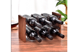 2 layers Wood Wind Rack for 6 Bottles - Myanmar Online Shopping