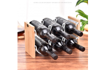 2 layers Wood Wind Rack for 6 Bottles